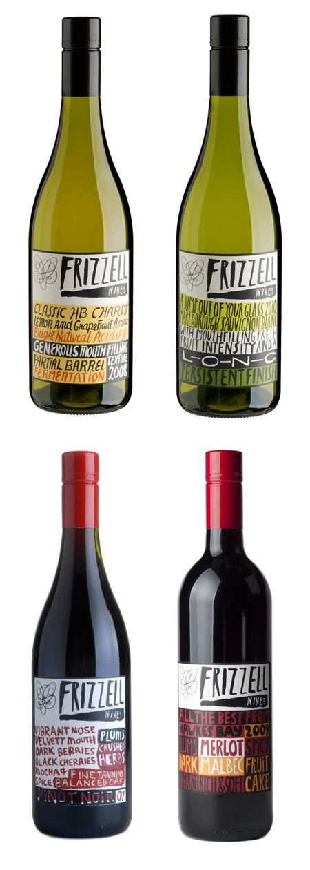 Painterly typography makes beautiful wine labels - thanks Dan.