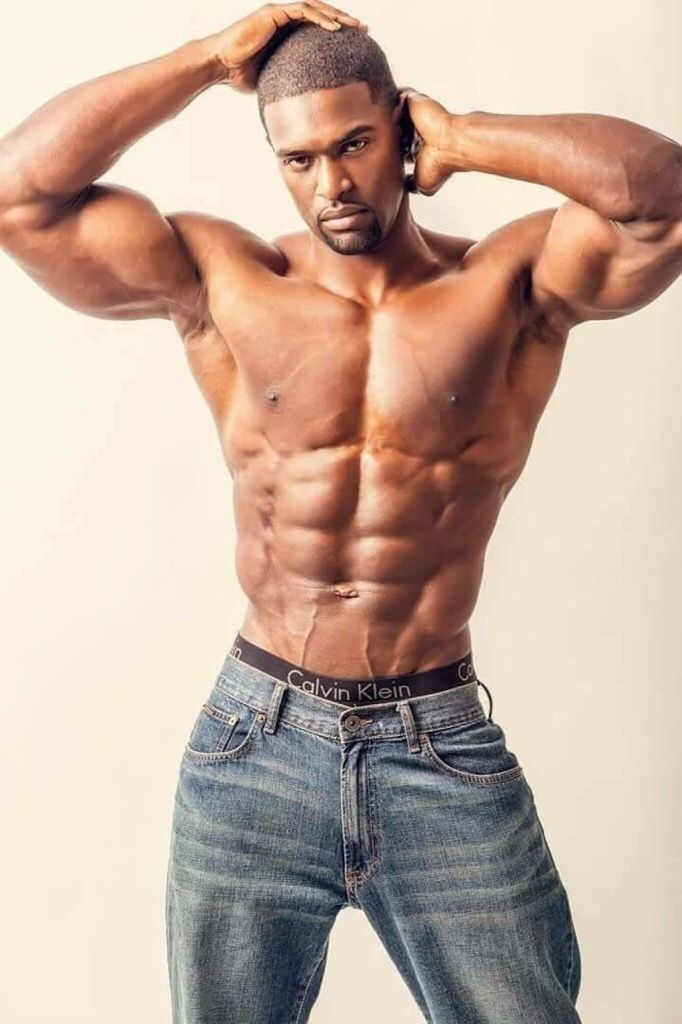 Sexy black men with abs — photo 6