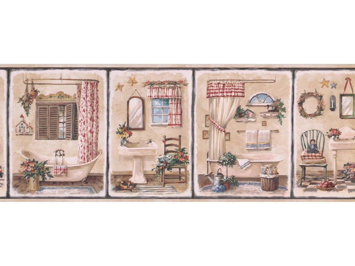 Bathroom Wallpaper Border 7112 Bsb Even If You Are Pleased With Your House Decoration You M Wallpaper Borders For Bathrooms Wallpaper Border Bathroom Wallpaper