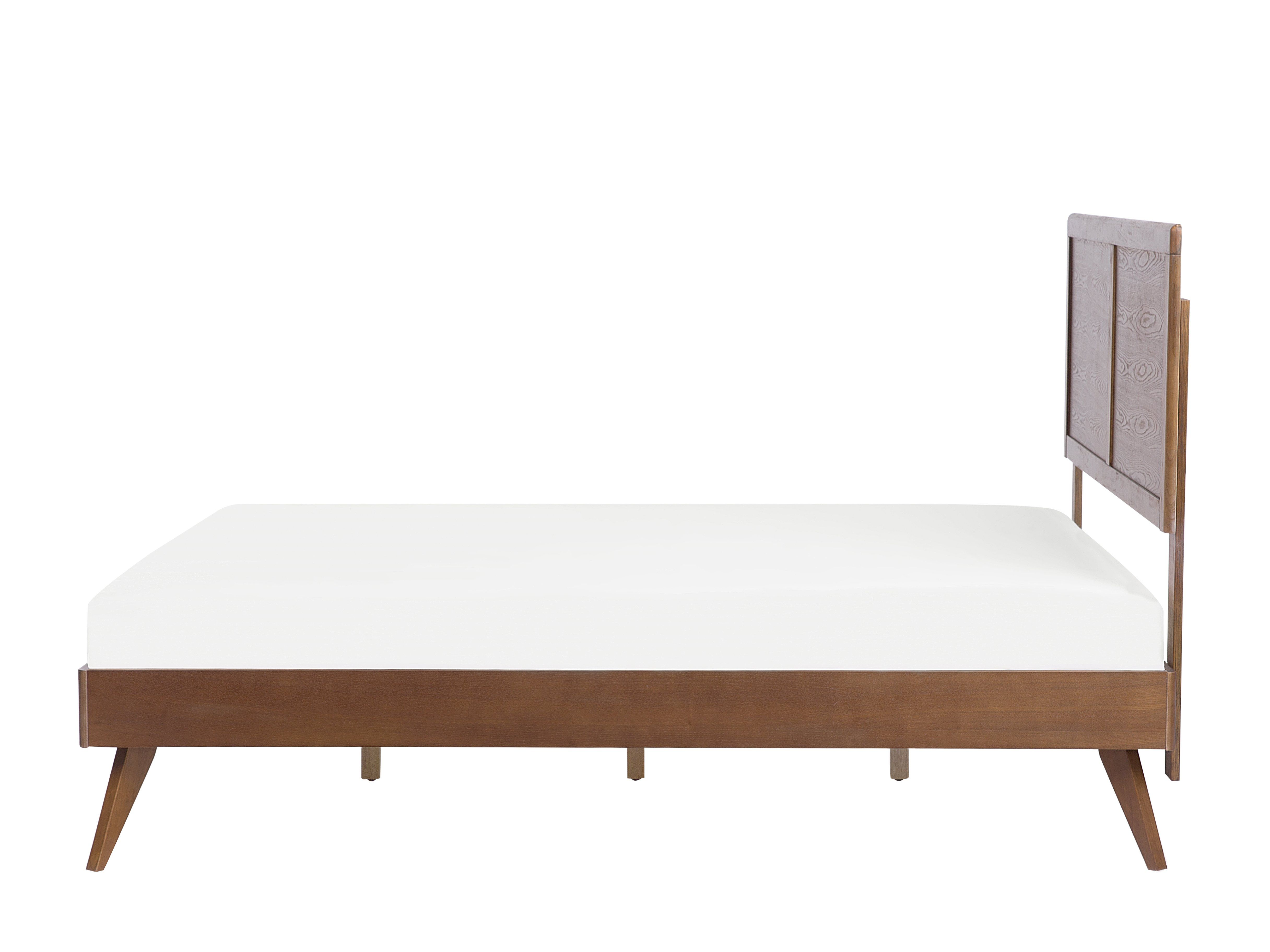 Beliani Letto a doghe in Legno Marrone Scuro 160 x 200 cm ISTRES
