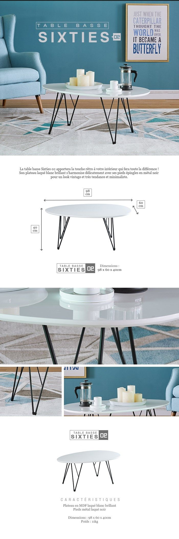 Difference Blanc Brillant Et Blanc Laqué tables basses vintages | meuble, table basse, table basse