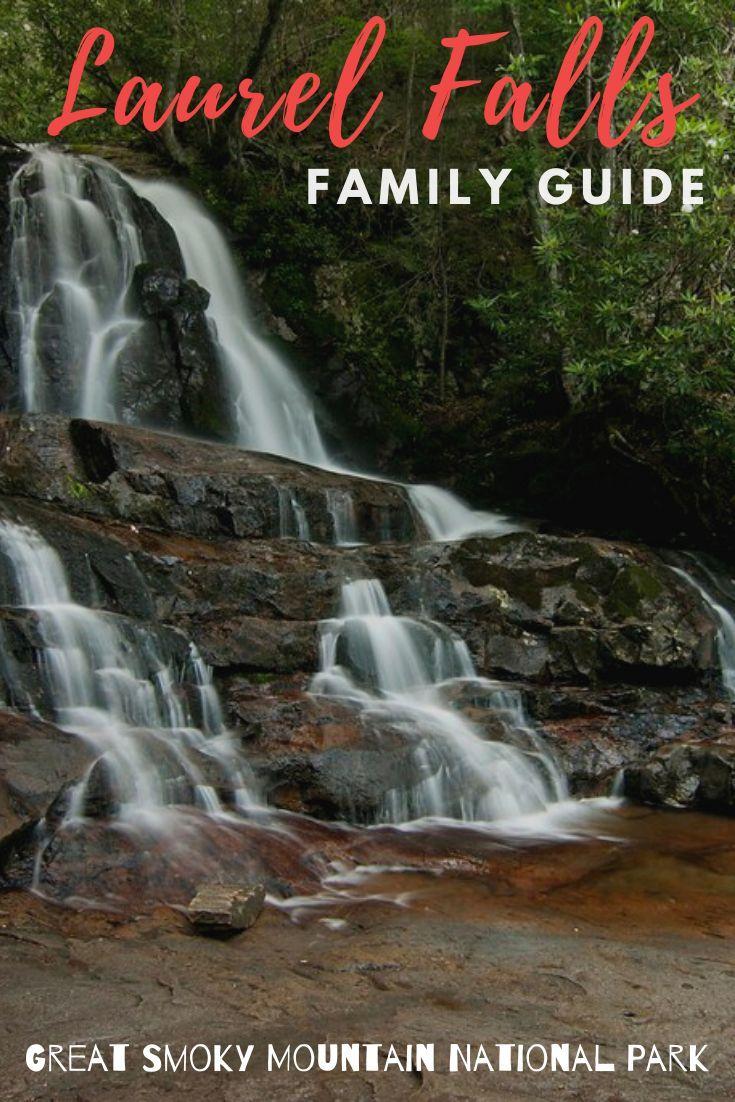 Laurel Falls hike in the #smokymountains #waterfalls #hiking #familytravel #tennessee