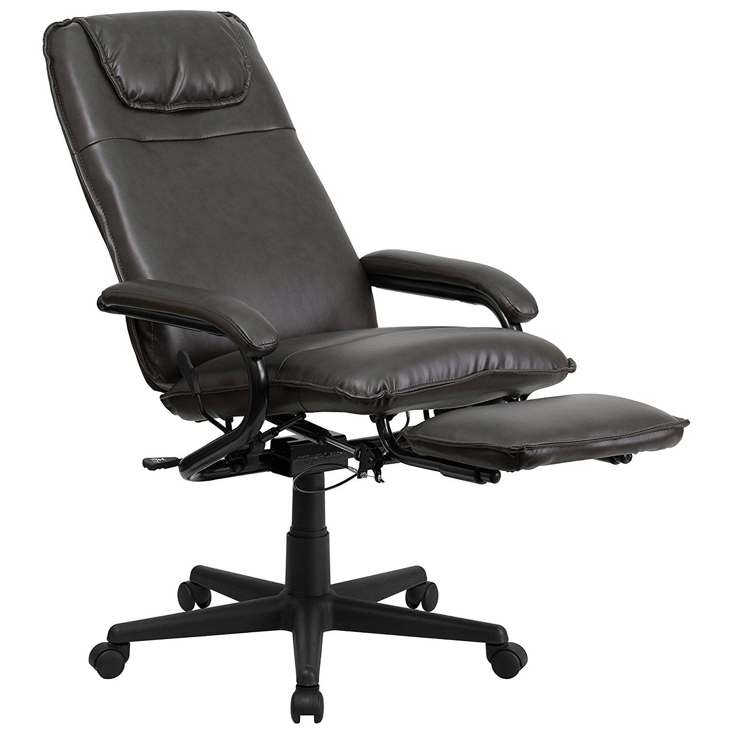 55 flash furniture high back black leather executive reclining