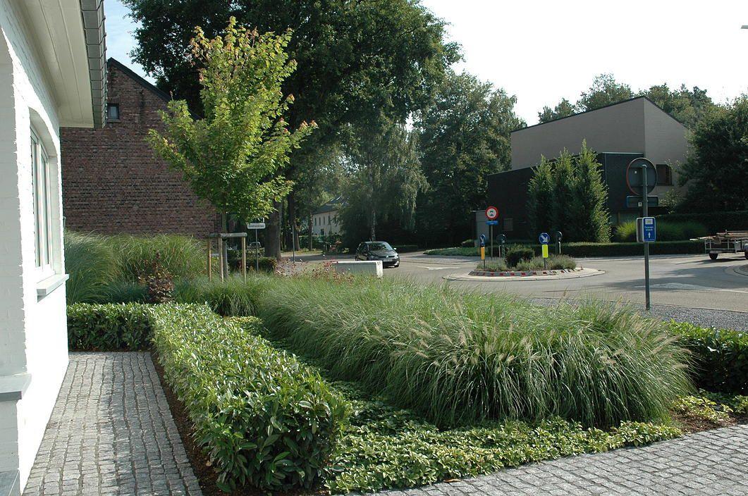 Renovatie Smalle Tuin : Strakke voortuin bij hedendaagse renovatie tuin
