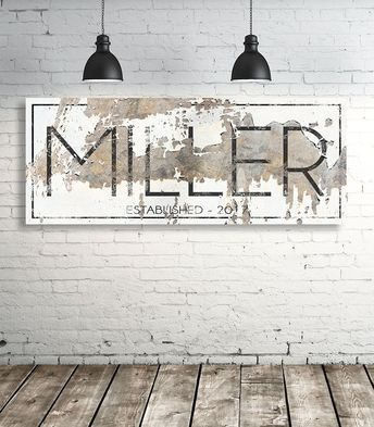 Modern Last Name Sign - Personalized Family Name Wall Art - Modern Farmhouse Wall Art - Est Name Sign - Wedding Gift #farmhousedecor & Modern Last Name Sign - Personalized Family Name Wall Art ...