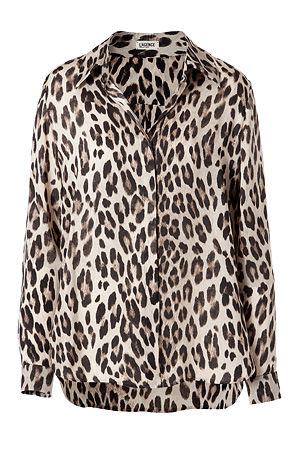 Inject bold style into your workweek staples with L'Agence's leopard print blouse