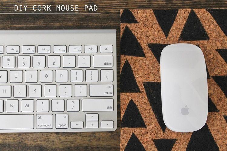 DIY cork mousepad