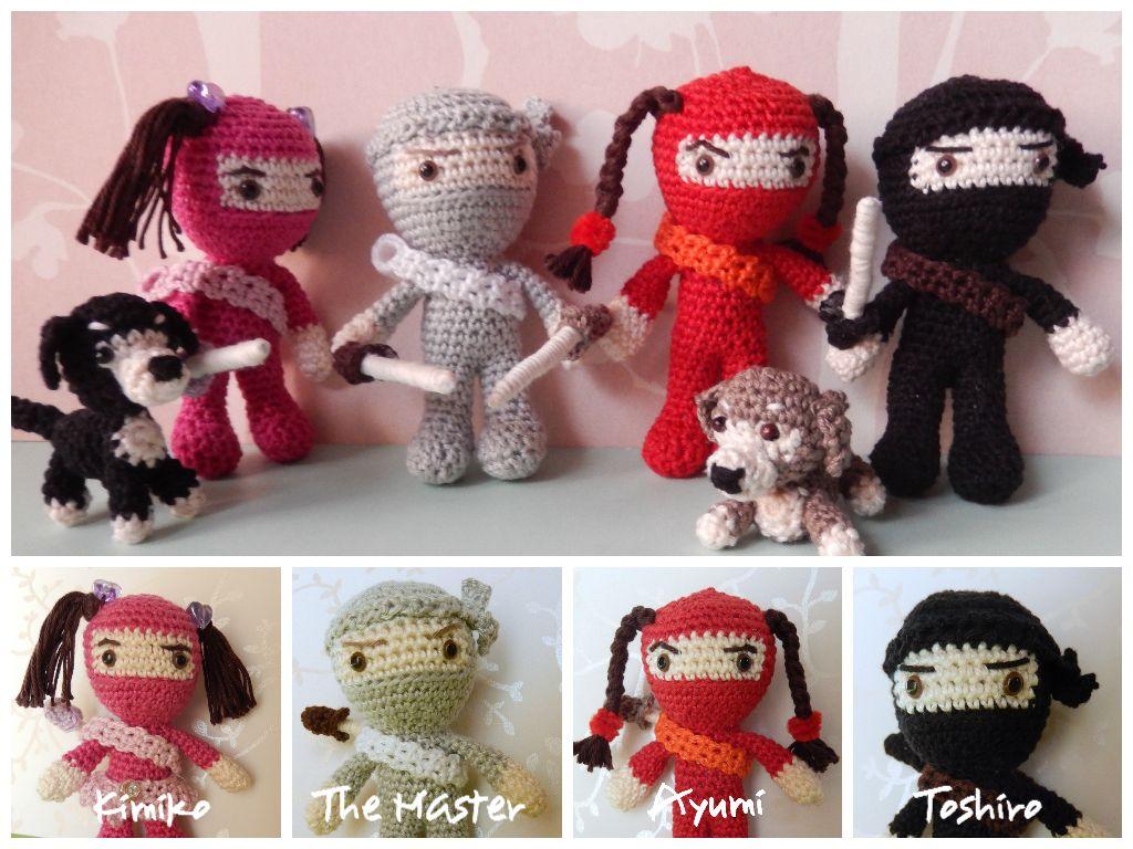 Amigurumi Patterns Free Crochet Pdf : Kunoichi the ninja master and ninja pupils free amigurumi pattern