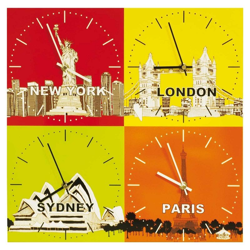 Buy online Pop Cities city time zone wall clock for New York ...