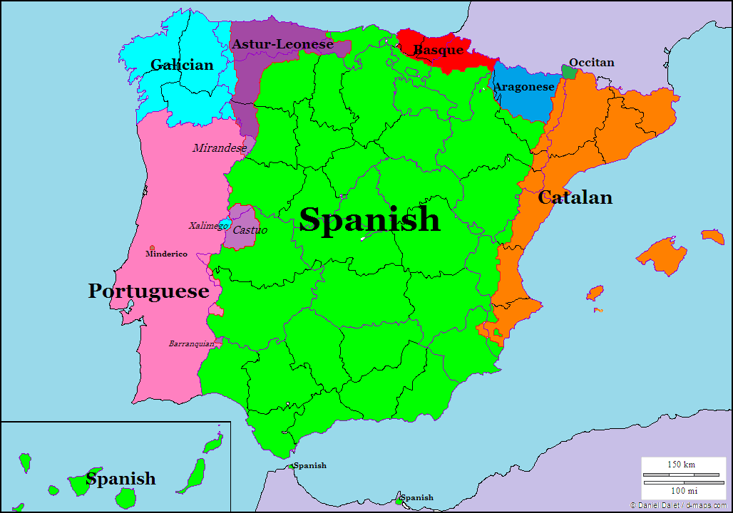 Languages In Spain Map.Languages Of Spain And Portugal Historical Maps Pinterest