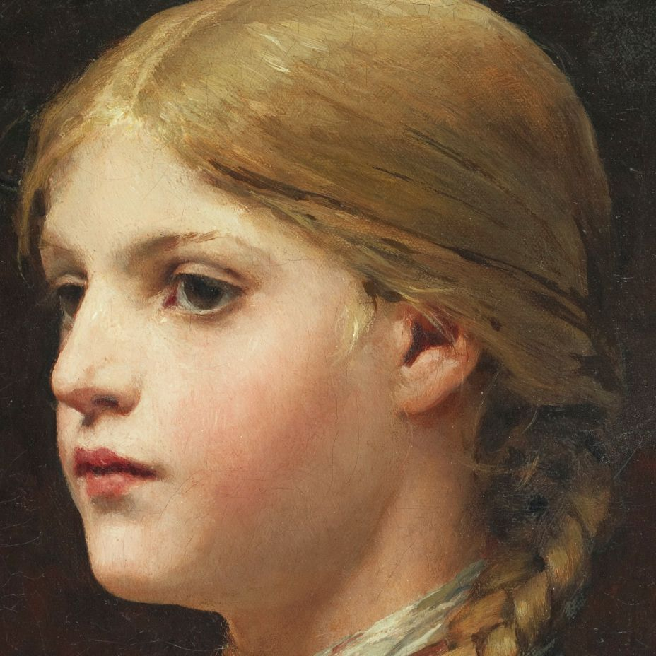 Anker, Albert, Portrait of a Girl (detail)