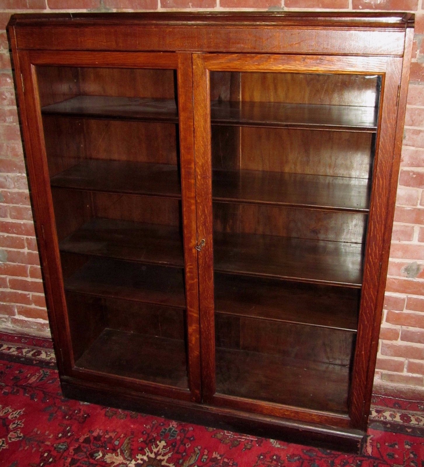 Antique Oak Bookcase with Glass Doors - Cool Furniture Ideas Check more at  http:/ - Antique Oak Bookcase With Glass Doors - Cool Furniture Ideas Check