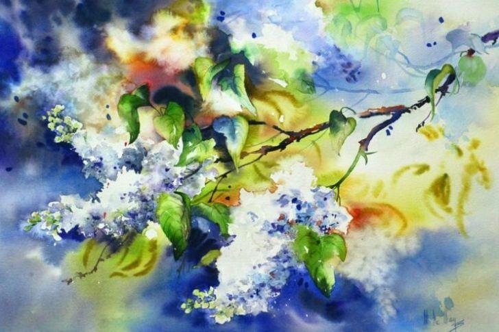 Maryse De May Watercolor Peintures Florales Peinture Fleurs