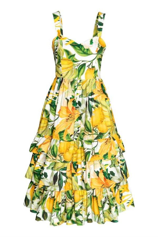 da556b24bb7d How summery is this pretty cotton poplin dress from H M  It comes in a  floral yellow pattern
