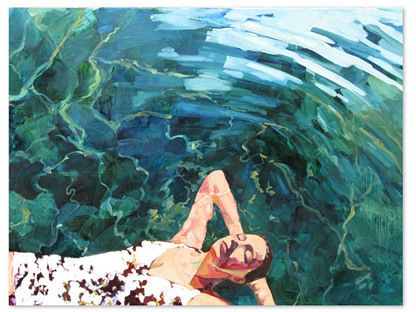 T.S. Harris, Floating Girl | A perfect reproduction of the artist's original work, created on canvas and printed in brilliant color. The piece arrives ready to hang.