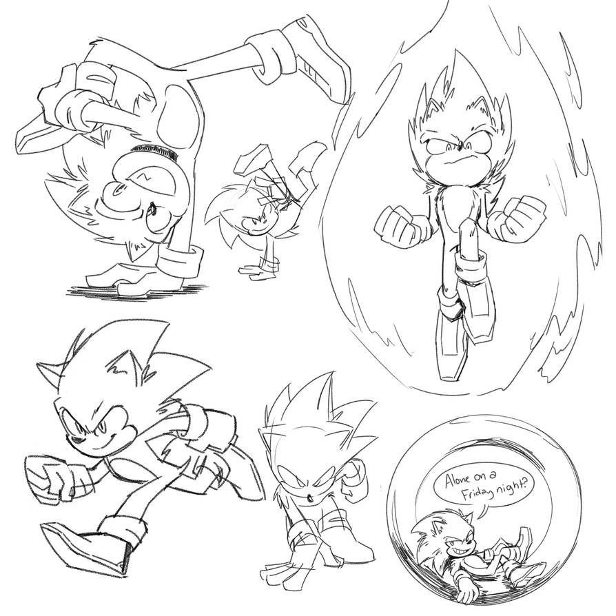 Assorted Movie Sonic Doods By Squigglydigg On Deviantart How To Draw Sonic Sonic Sonic Art
