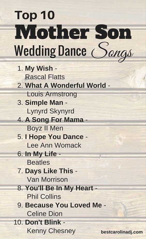 Top 10 Mother Son Wedding Dance Songs Wedding dance
