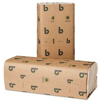 Boardwalk Green C-Fold Towels, Natural White, 10 1/8x13, 200/pack, 12 Pks/carton