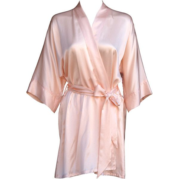 Pale Pink Silk Kimono 370 Cad Liked On Polyvore Featuring