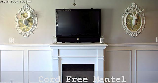 Dream Book Design: Cord Free Mantel: How To Hide Your Cable Box System