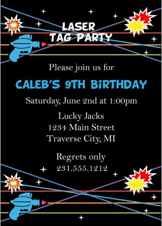 8eefba60414c Laser Tag Birthday Invitation - Laser Tag Invitation   laser   Kids ...