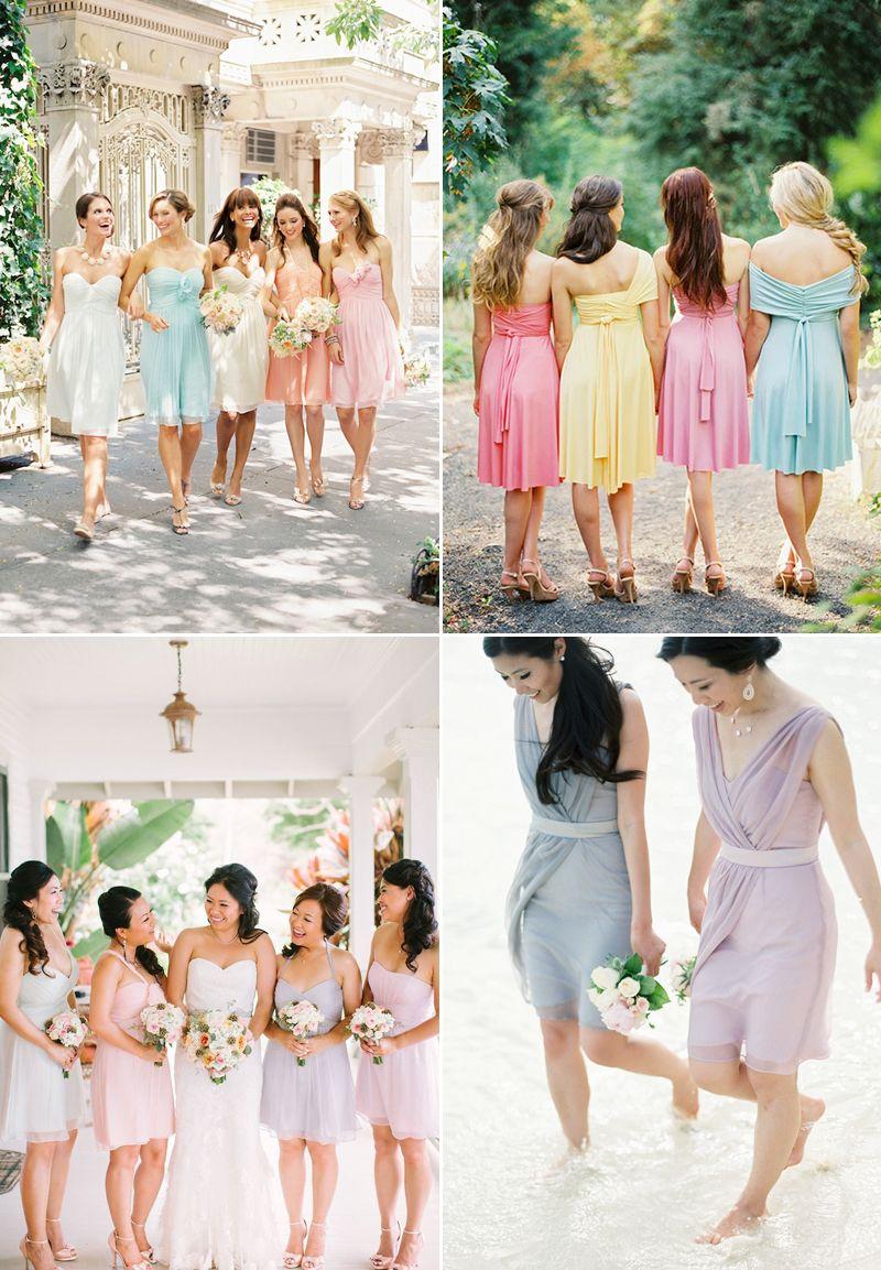 stylish chic short bridesmaid dresses we love bridal parties
