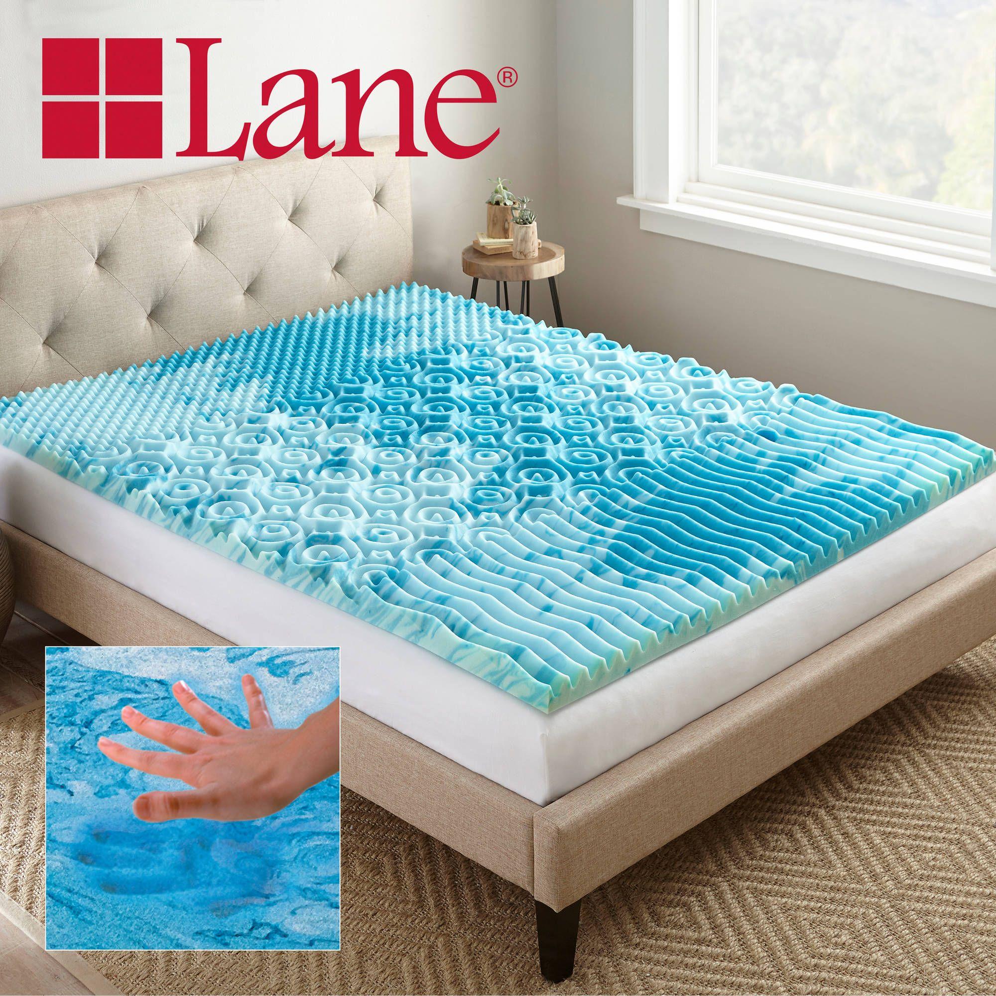 lane 2 cooling gellux memory foam gel mattress topper multiple