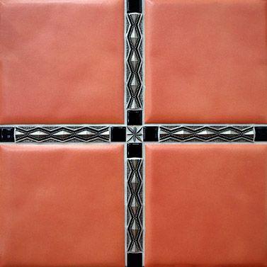 Pewter Tile Inserts Decorative Tiles Backsplashes Wall