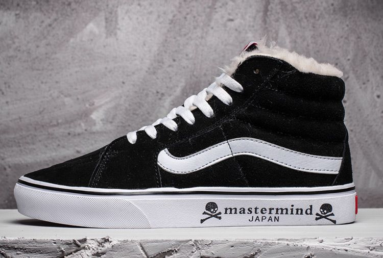 Mastermind Japan x Vans SK8-Hi Fur Black Suede Skate Shoes For Sale  Vans 3768ec4ae