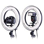 Neewer 14″ Dimmable Ring Light 50W(400W equivalent ) Continous Camera Photo Video Lighting Recording Youtube Vine Video Ring Light