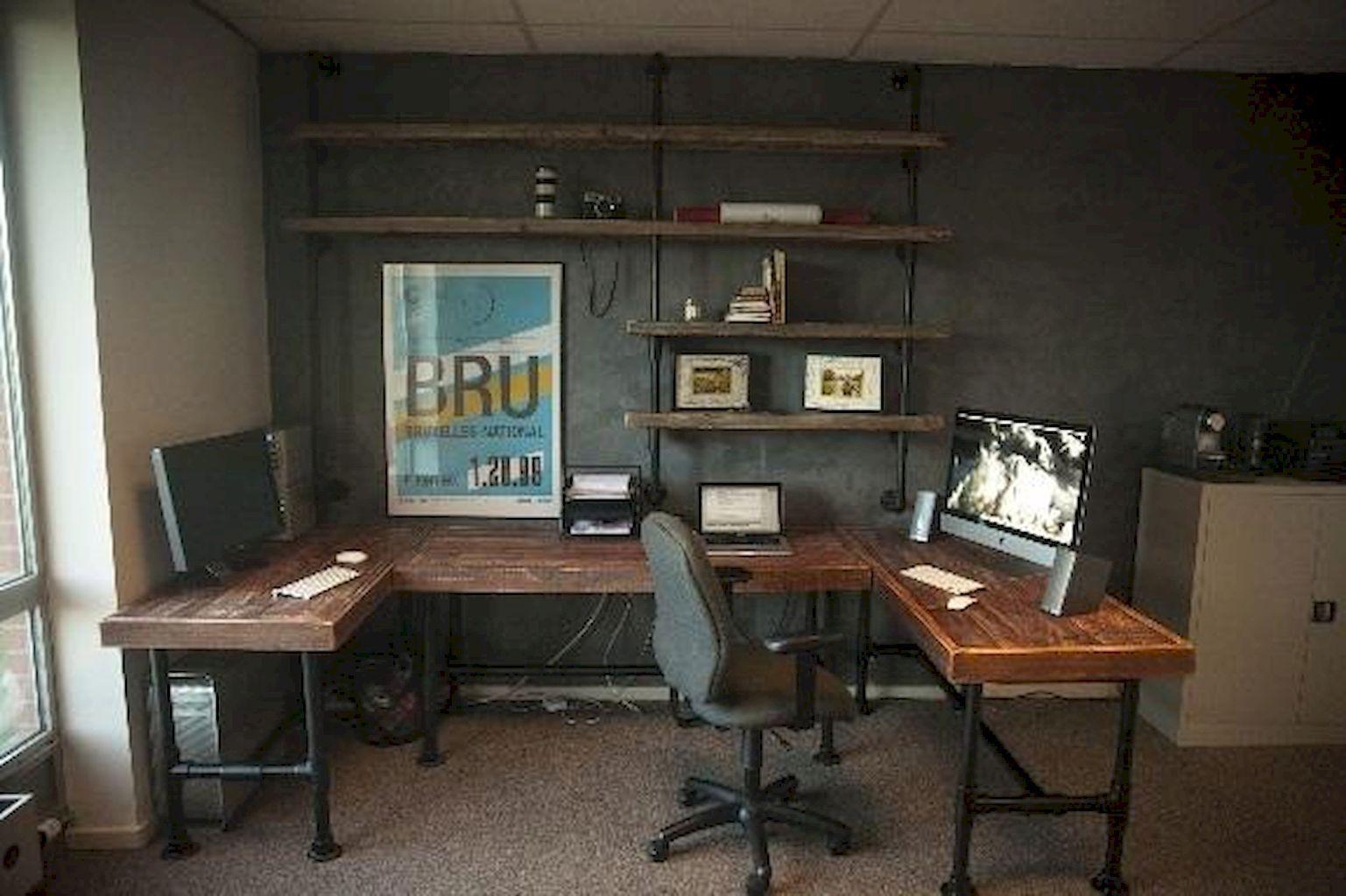 rustic home office furniture. 45 Amazing Rustic Home Office Furniture Ideas (38) T