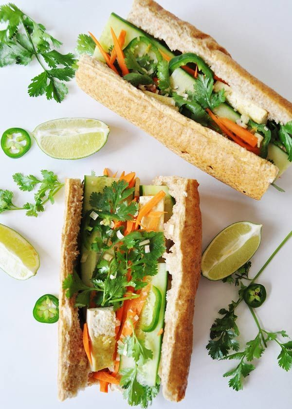 Tofu Bánh Mi Sandwich with Lemongrass