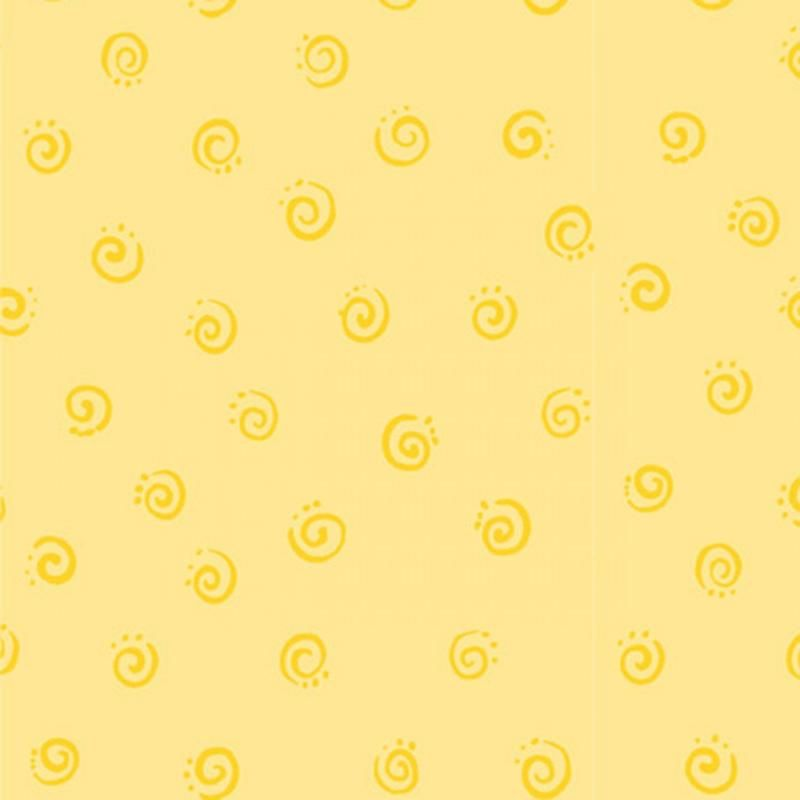 Yellow Squiggle Fabric By Susy Bleasby Susybee In 2020 Printed