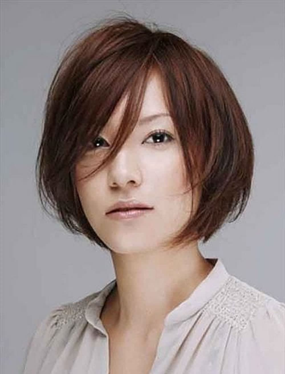 15 Magnificent Shirt Hairstyles Ceplukan Asian Bob Haircut Asian Short Hair Short Hair Styles For Round Faces