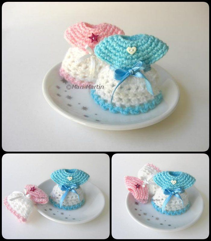 Good Crochet Mini Baby Shower Favors With Free Patterns
