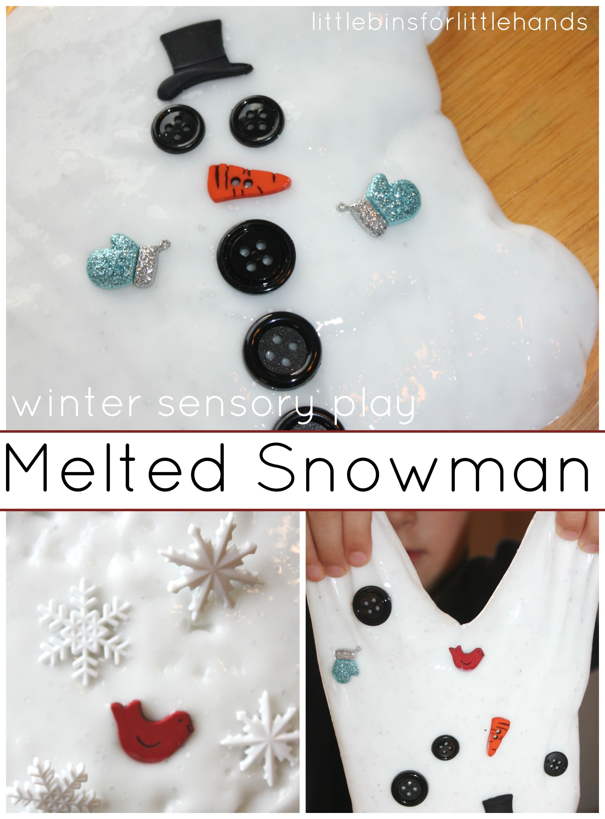 // Melting Snowman Slime Quick And Easy Recipe For Winter Sensory Play We fell in love with slime this year! We have used this homemade, quick and easy slime recipe over and over again and it has not failed us yet! It is so simple, you will have awesome slime in 5 minutes that you can play ...