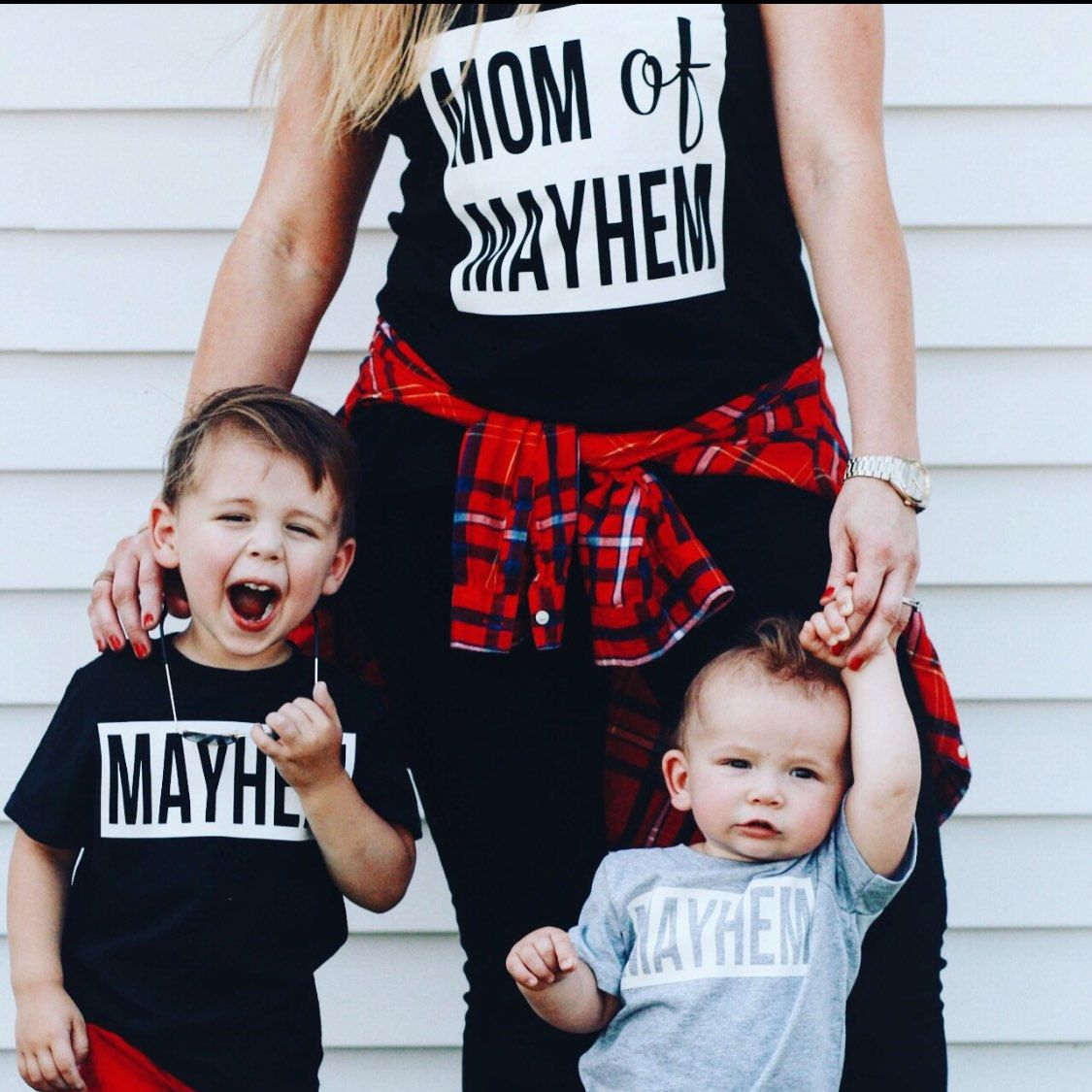 mom of mayhem mommy and me mom and daughter son shirts