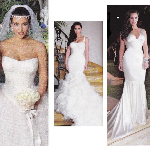 Kim Kardashian Wedding Dresses Kim Kardashian Kimkardashian