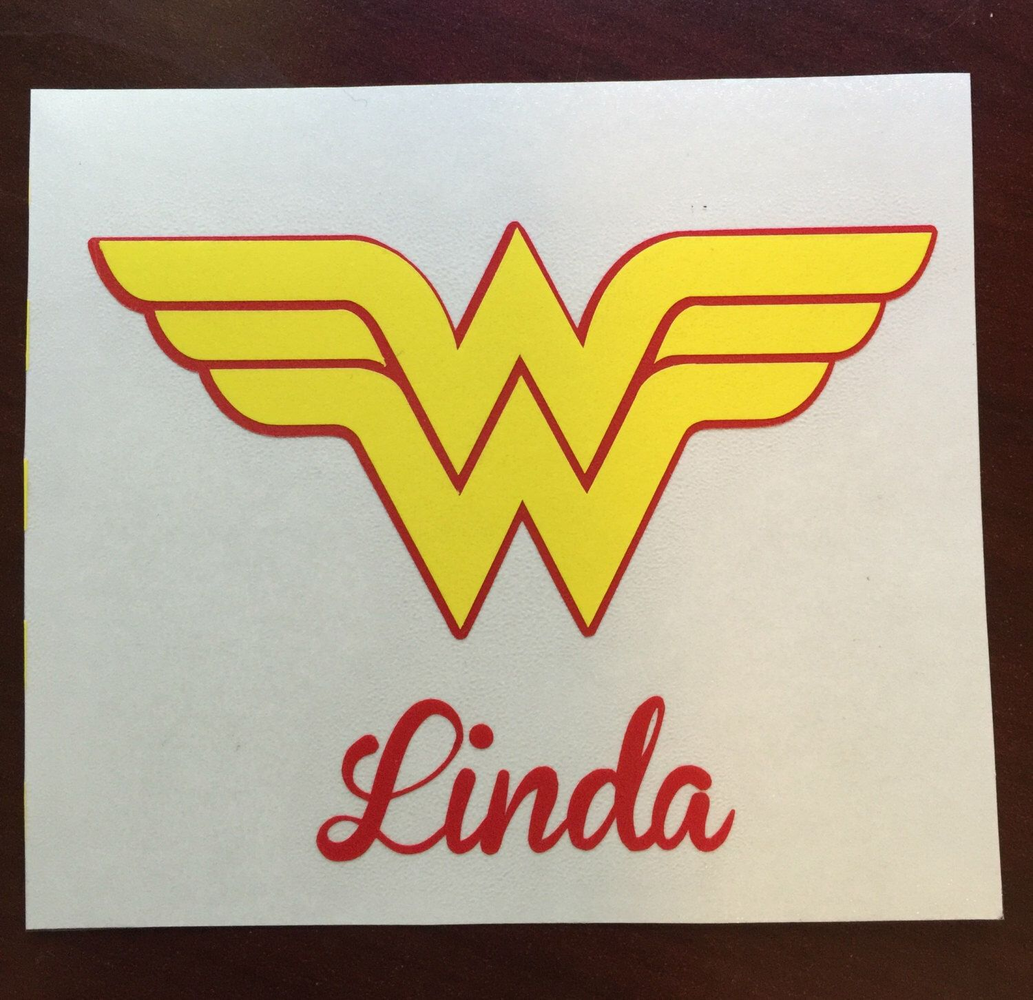 Wonder Woman Decal Sticker For Yeti Cup Car Decal Laptop Any Smooth Surface Application Yeti Cup Stickers Cup Decal Vinyl Crafts [ 1452 x 1500 Pixel ]