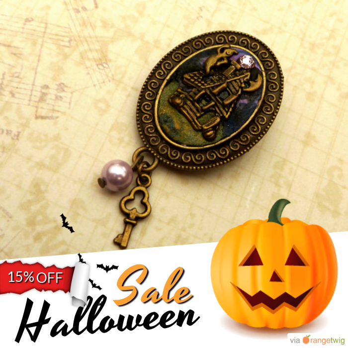 15% OFF on select products. Hurry, sale ending soon!  Check out our discounted products now: https://www.etsy.com/shop/Schmucktruhe?utm_source=Pinterest&utm_medium=Orangetwig_Marketing&utm_campaign=Happy%20Halloween   #etsy #etsyseller #etsyshop #etsylove #etsyfinds #etsygifts #musthave #loveit #instacool #shop #shopping #onlineshopping #instashop #instagood #love