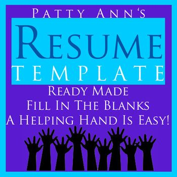 Resume Job & Career Template > Generic, Ready Made Word Doc. Just ...