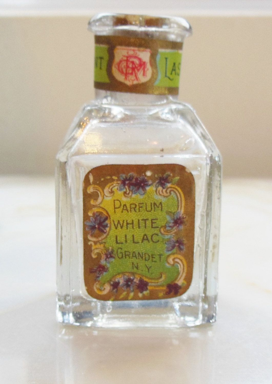Antique Perfume Bottle Grandet White Lilac By