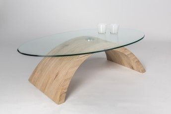 Table Basse Design En Verre Et Bois Chene Sable Victorine Glass