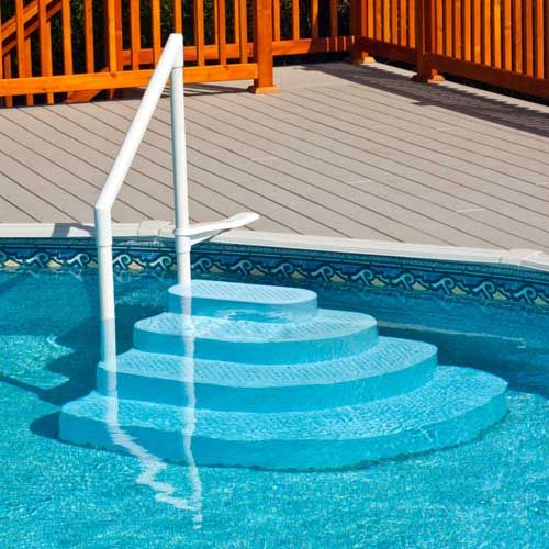 Finest Wedding Cake Steps For Above Ground Pools Above Ground Pool Steps Above Ground Pool Stairs Above Ground Pool Ladders