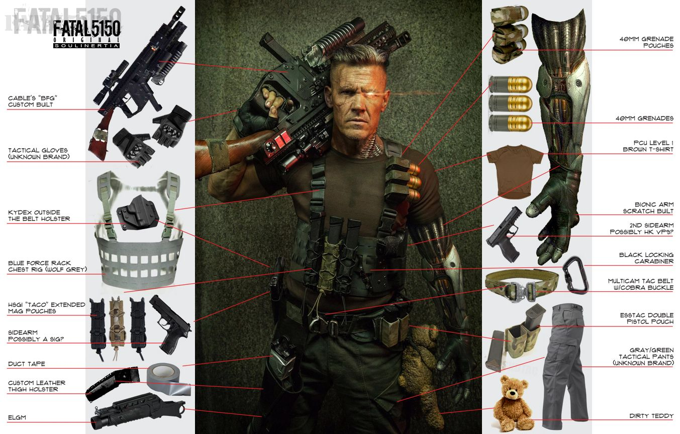 Image Result For Cable Pistol Deadpool 2 Deadpool Cosplay