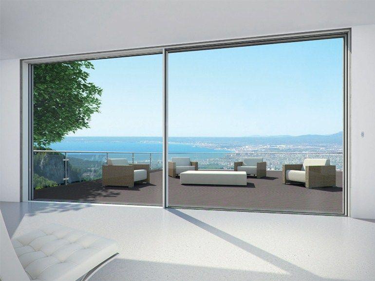 Porta finestra a taglio termico scorrevole in alluminio sch co ass 77 pd hi by sch co - Finestra a bovindo ...
