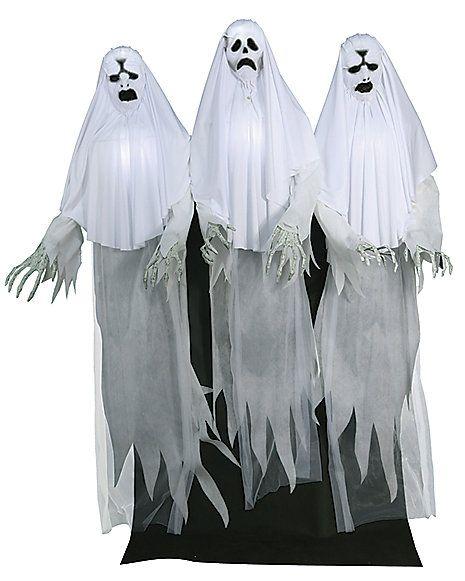 6 Ft Spooky Ghost Trio Animatronics \u2013 Decorations - Spirithalloween