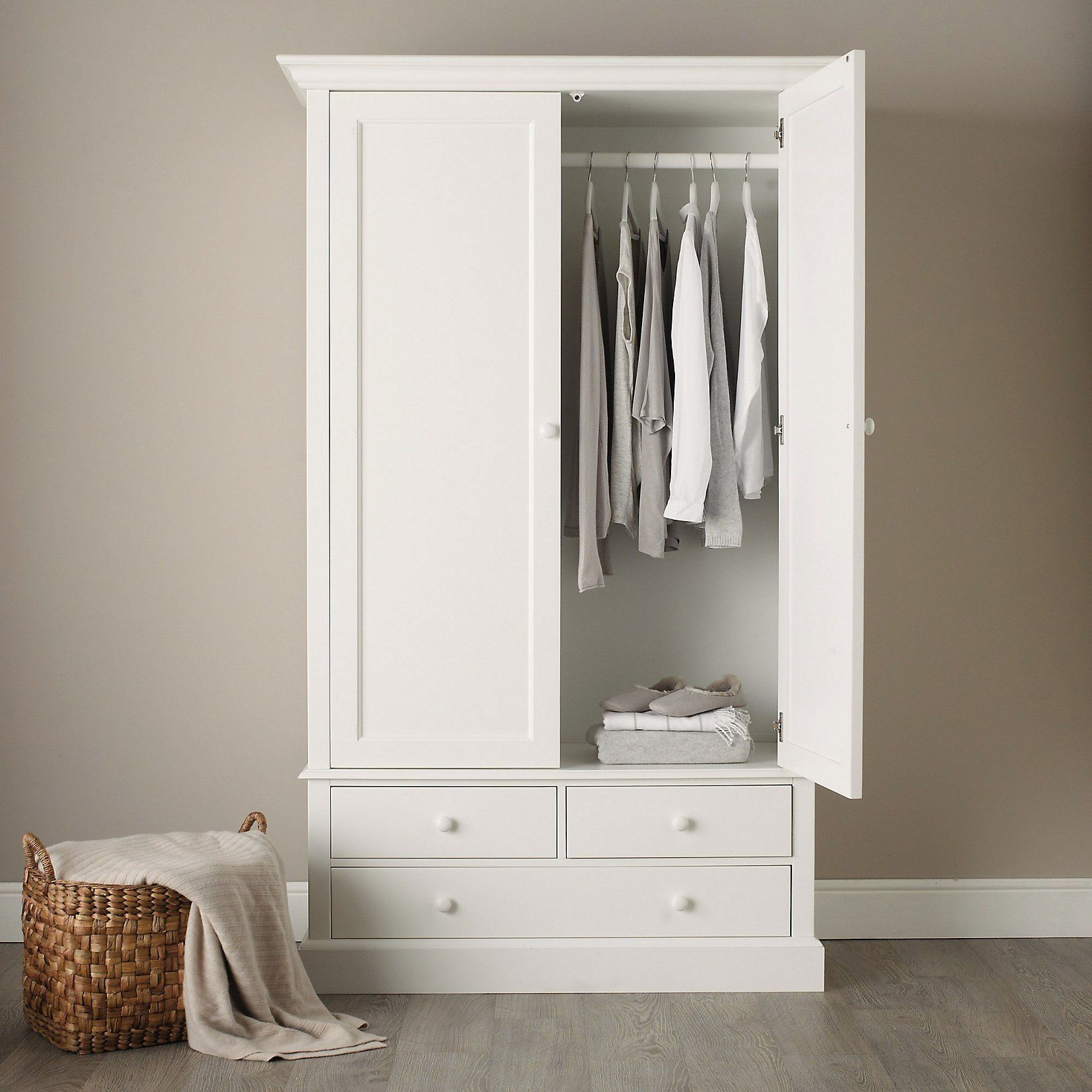 Classic Large Wardrobe Bedroom Furniture The White Company