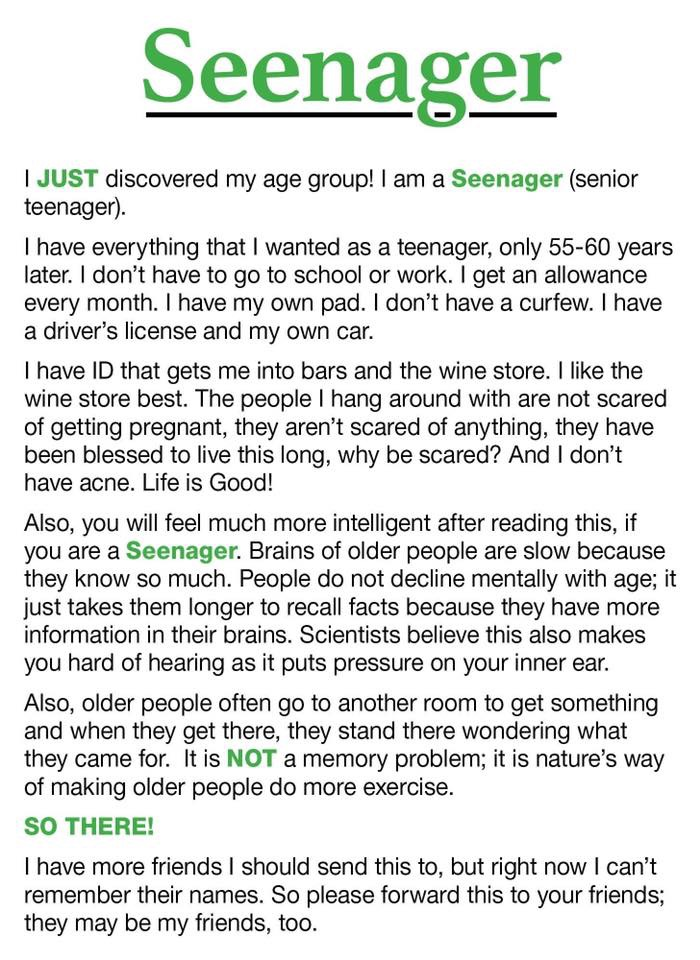 From Baby Boomer to Seenager | Funny poems, Death humor, Smartass ...