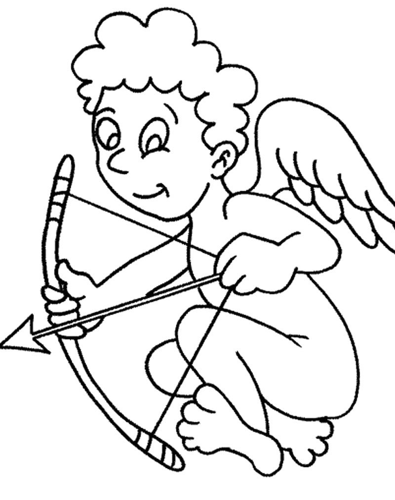 Cupid coloring pages for kids kids coloring pages pinterest cupid